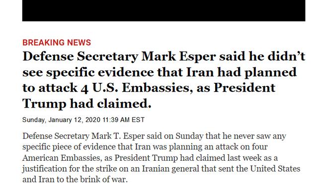New York Times Mark Esper