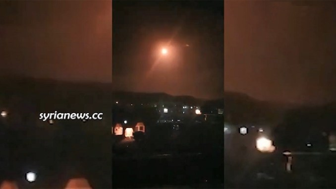 Israeli aggression against Damascus 23 February 2020 at 23:25