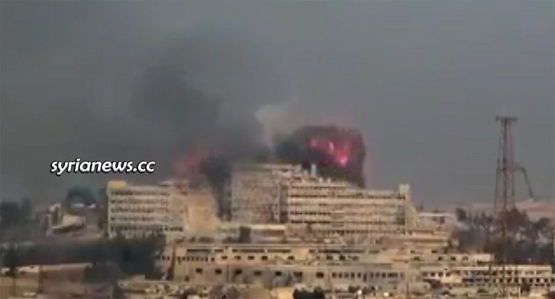 US-sponsored terrorists bombed al-Kindi Hospital in Aleppo December 2013