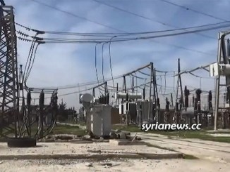 Aleppo Mansoura electricity power station back to service