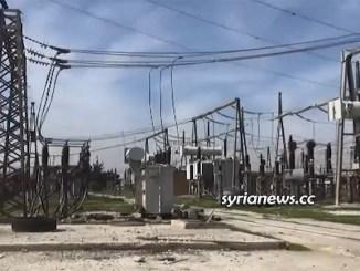 Aleppo Mansoura electricity power station back to service
