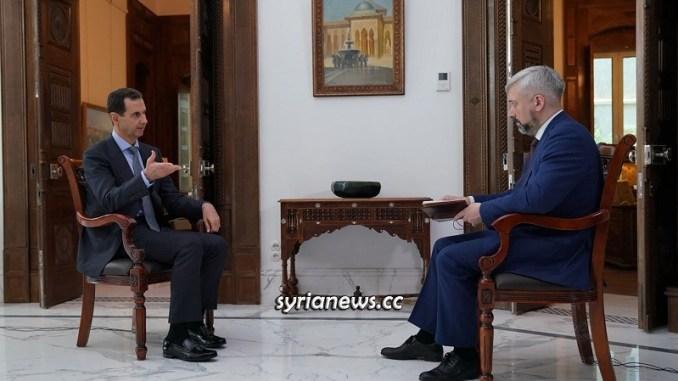 Syria President Bashar Al Assad Interview Russia 24