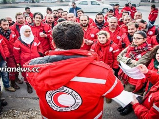 Syria SARC Syrian Arab Red Crescent volunteers