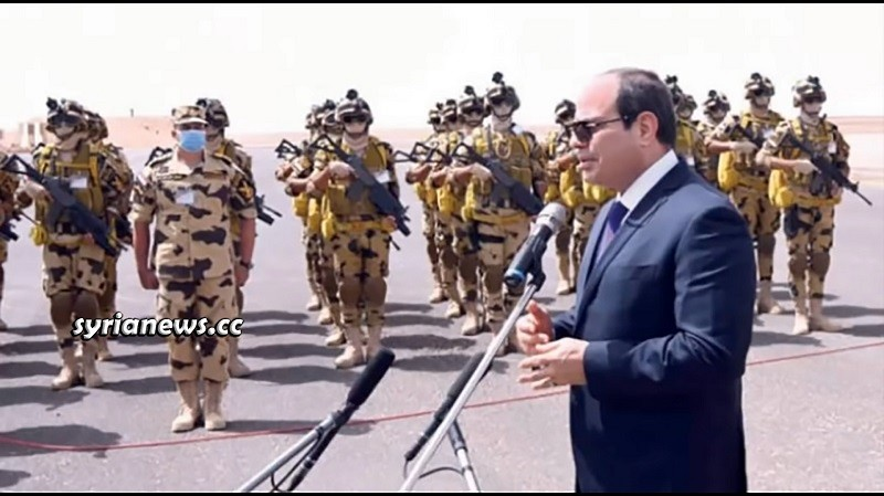Egyptian President Sisi with Egyptian Army