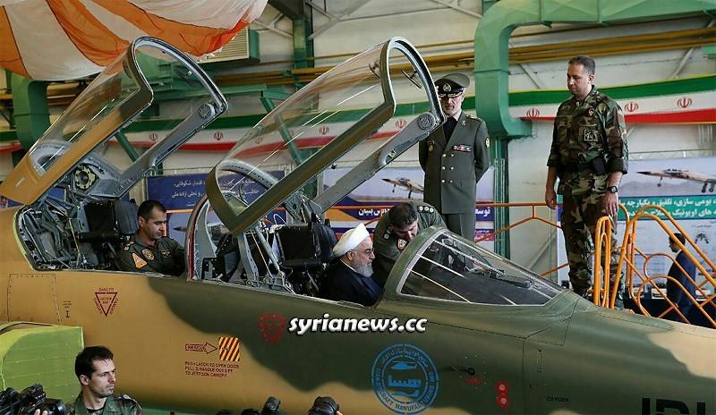 Iran President Hassan Rohani inspects Kosar Fighter Jet August 2018