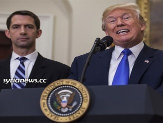 US Senator Tom Cotton and US President Donald Trump - Racist Face of the USA