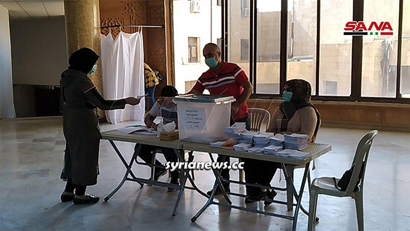 Syrians casting votes in Parliament Elections 2020
