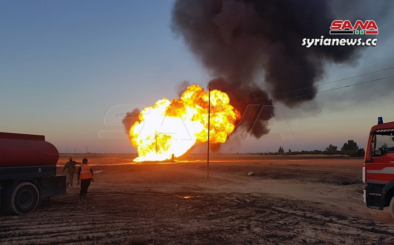 Gas pipeline explosion - Syria Damascus countryside - terror