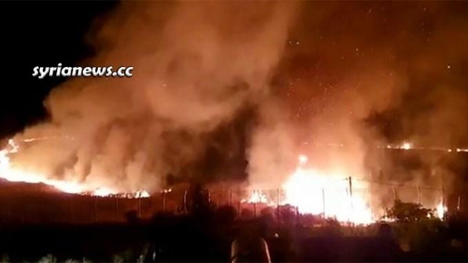 Netanyahu IDF Terrorists Set fire in the Golan