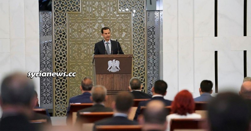 Syrian President Bashar Assad Addressing Syrian Parliament - Damascus