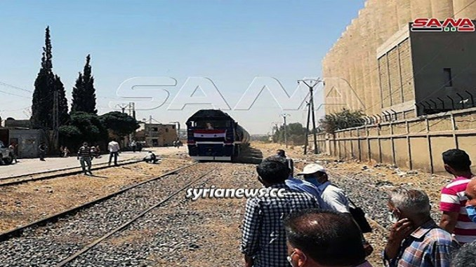 Syria Railways Recovery: First train arrives in Damascus carrying grains from Tartous Port