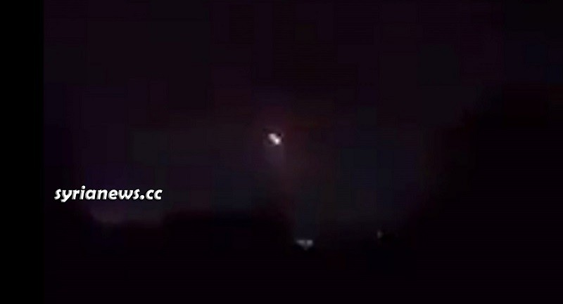 Syrian Army air defense repel incoming Israel missiles in the outskirts of Aleppo