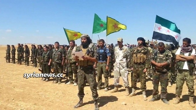 US Kurdish SDF YPG PKK and Turkish FSA NATO Guns