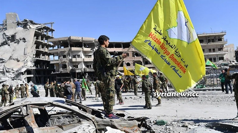 SDF Kurdish separatist Militia sponsored by the USA and Israel in Northern Syria