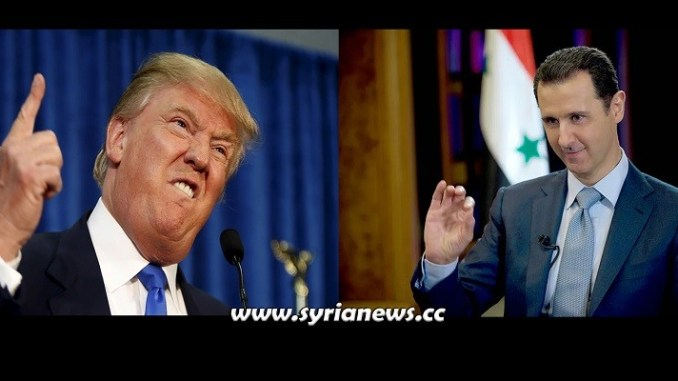 US President Donald Trump - Syrian President Bashar Assad