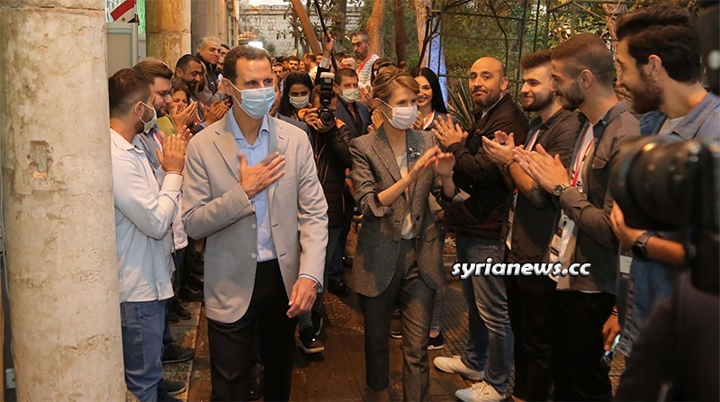 Syria First Couple visit Aleppo industries exhibition in Damascus