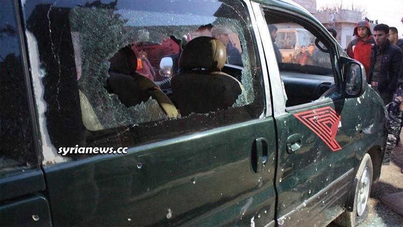 bomb explosion in Darabssiyah Hasakah countryside kills child injures her sister
