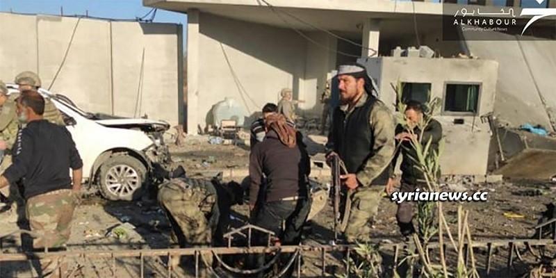 Car bomb explosion kills 2 Turkish army soldiers in Ras Al Ain - Syria
