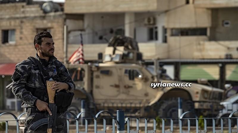 US sponsored separatist Kurdish SDF militia north Syria