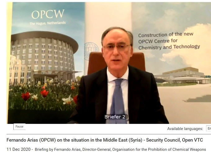 OPCW DG Fernando Arias