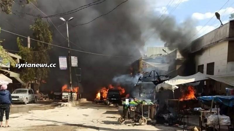 Car explosion in Afrin and Al Rai northern Aleppo countryside