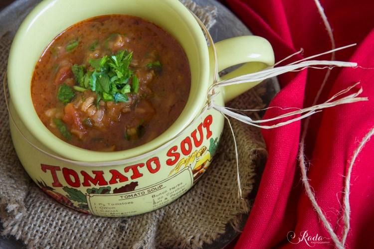 Tomaten-rijstsoep