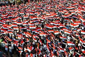 Pro-elections rally in Aleppo. photo: