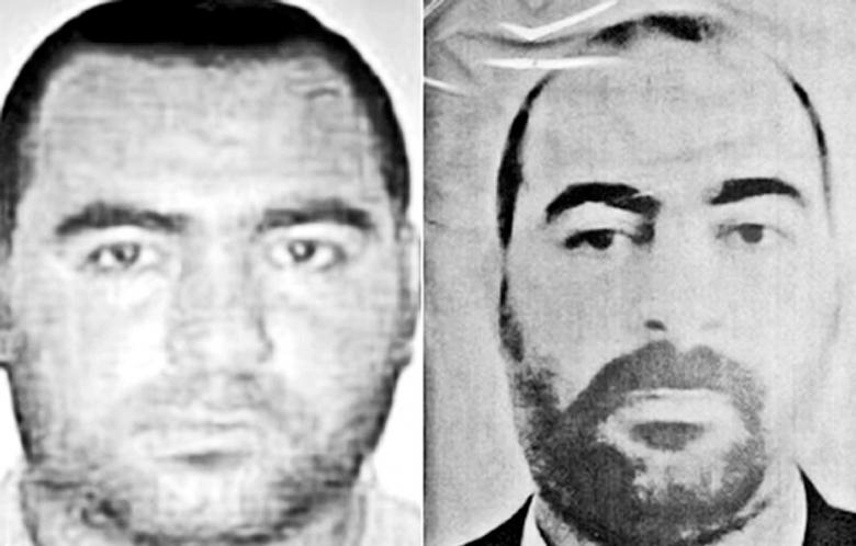 Two photos put out by Washington and Baghdad of ISIS leader Abu Bakr al-Baghdadi. (Photo: AFP)
