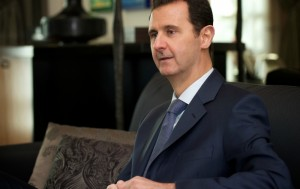 The president in Damascus, January 2015. (Media and Communications Office, Presidency of Syria)