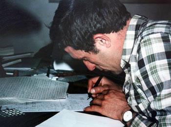 Carlos Sánchez Magro trabajando