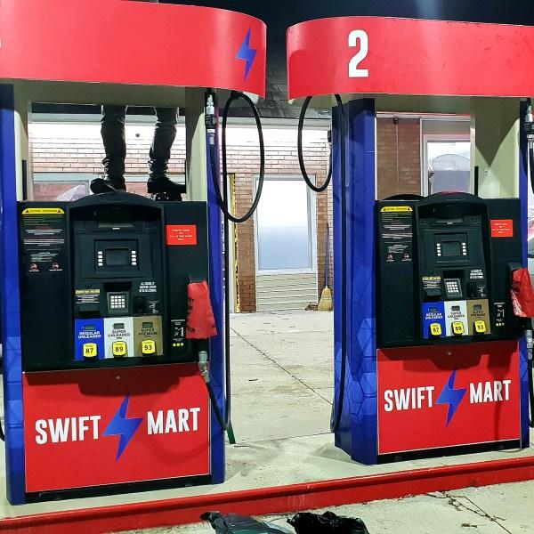 Swift Mart Gas Pump Decal