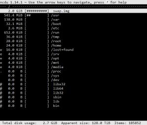 distribución optimizada del espacio en disco