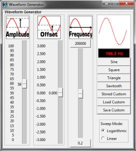 Waveform Control Panel