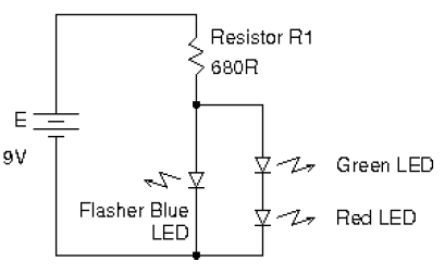 the schematic above will allow us to flash the leds