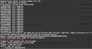 build nodered terminal