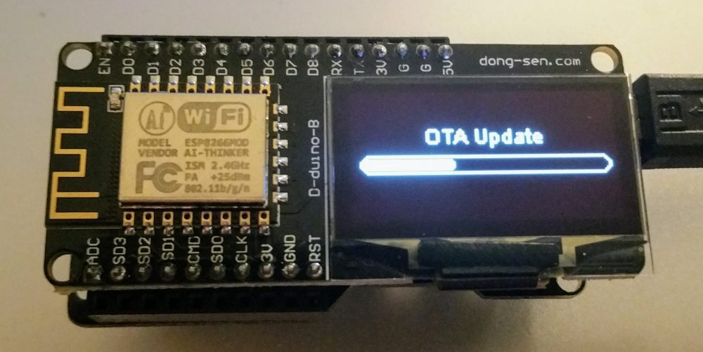 Basic D-duino code (OLED, WifiManager) | sysrun io