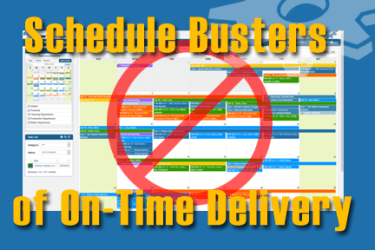 schedule busters of on time delivery