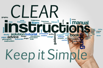Image result for clear instruction