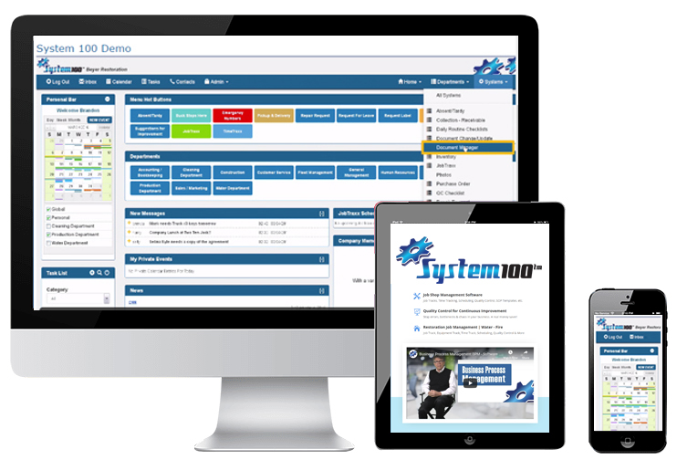system100 Multi Device Compatible - Business Process Management Software