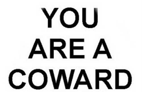 Image result for coward