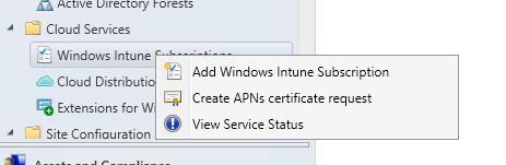 sccm 2012 intune integration
