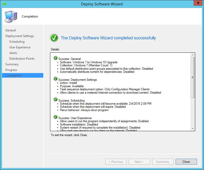 SCCM Task Sequence Upgrade