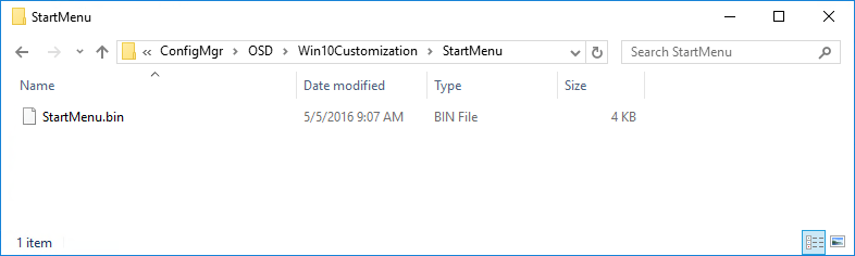 SCCM Windows 10 customization