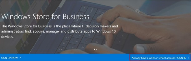 SCCM Windows Store for Business Integration