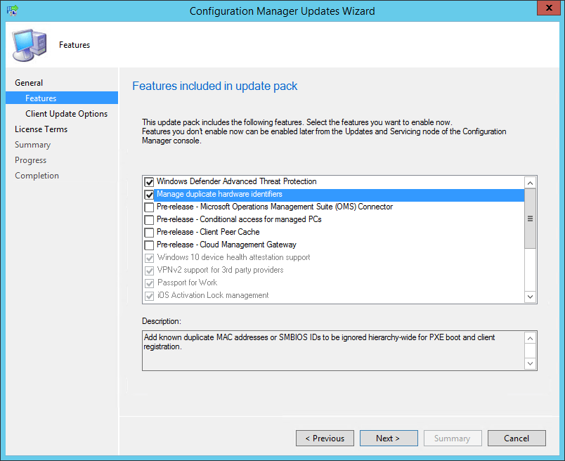 SCCM 1610 upgrade guide
