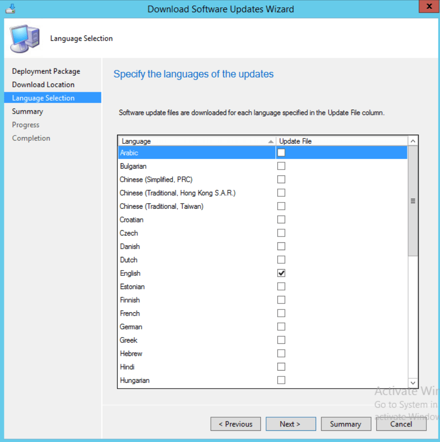 SCCM Add Microsoft Update Catalog WSUS Server