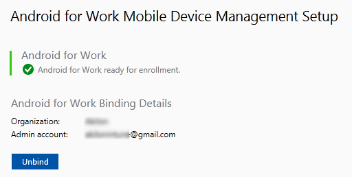 SCCM Android for Work