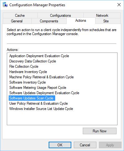 SCCM Software Update Scan Error 0x80240fff