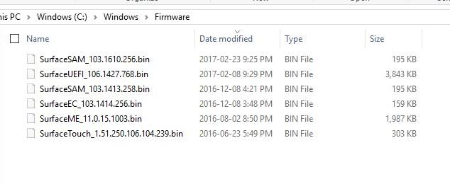 SCCM Update Microsoft Surface Firmware