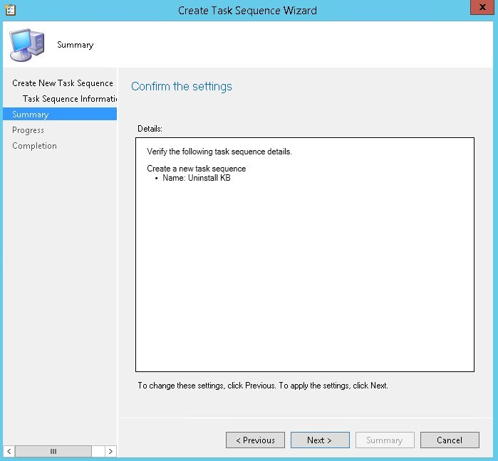 SCCM Uninstall Windows Update